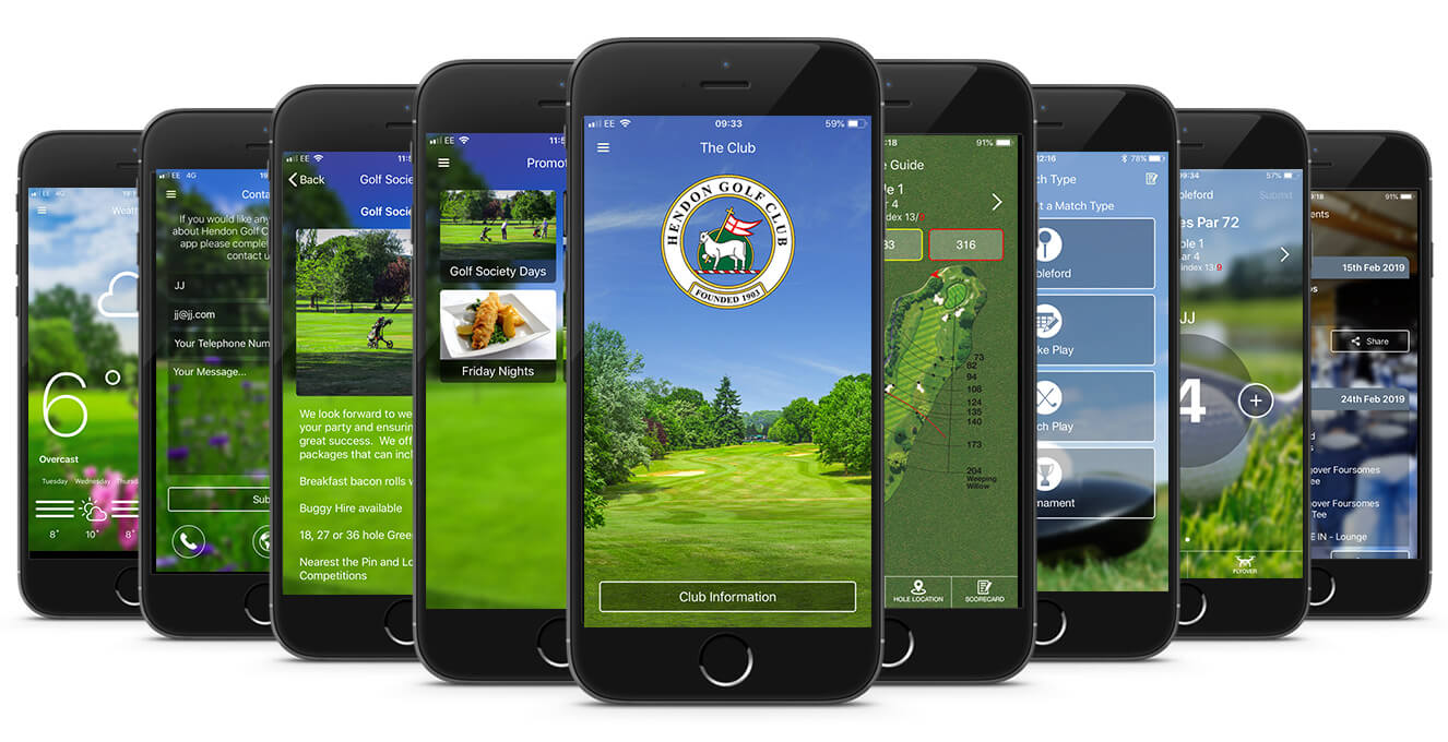 Hendon Golf Club CourseMate App Image
