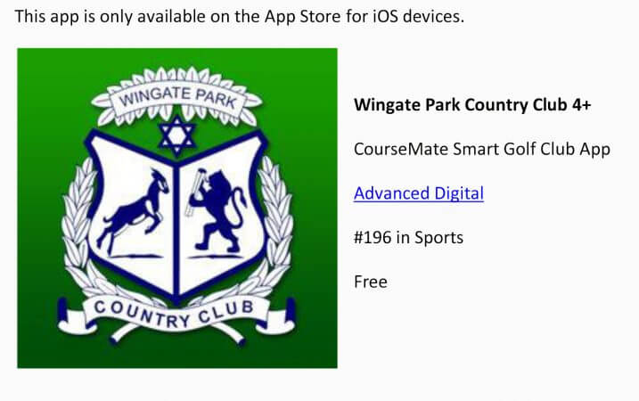 CourseMate Wingate App Makes Apple top 200