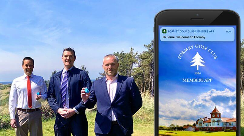 Formby coursemate ibeacon welcoming golf club members